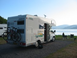 Bicycles on the Hired Motorhome