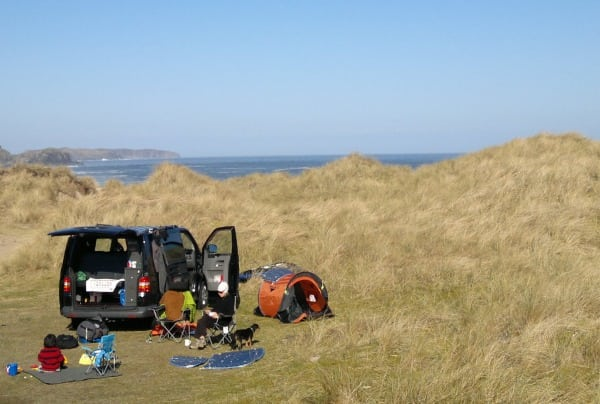 Beach campervanning
