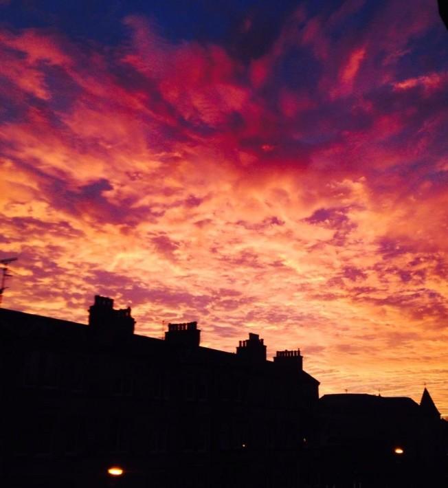 Edinburgh sunset. Pic credit Mike Bolam
