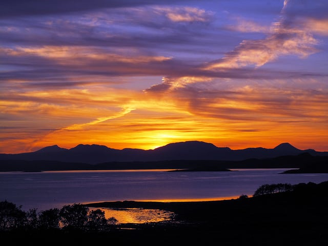 Sunset from Arduaine, Argyll. Pic credit: Forbes Johnston on Flickr