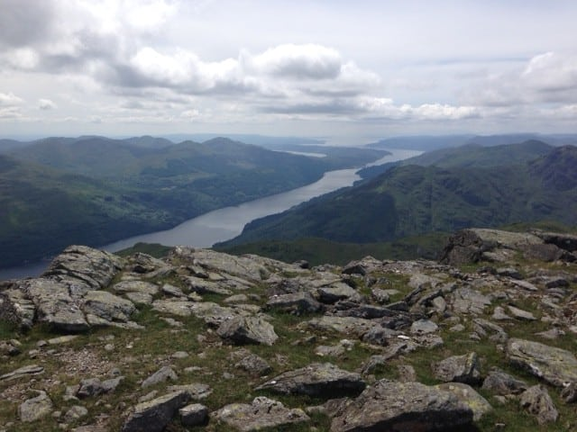 Loch Lomond from the top of Beinn Narnain