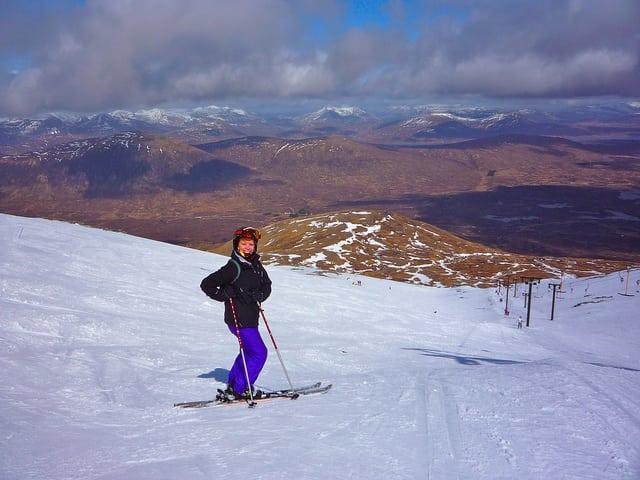 Glencoe skier. Pic credit: Tess Watson