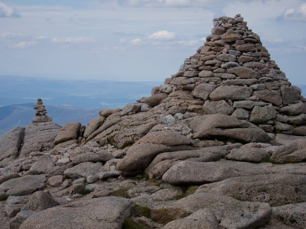 Cairn Gorm summit cairns. Pic credit: Dale Harvey