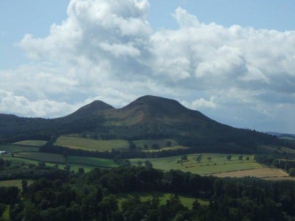 The Eildon Hills.