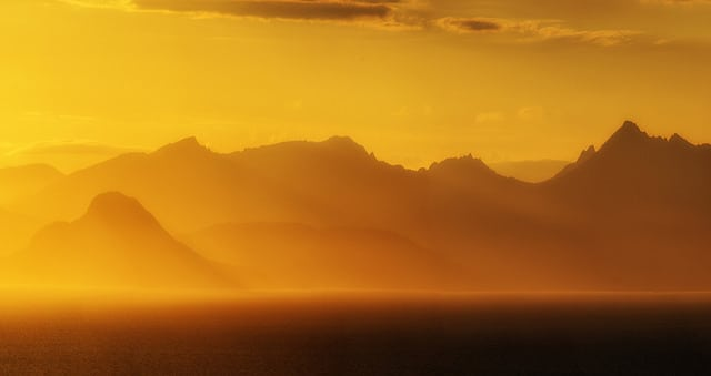Arran bathed in golden light. PIc credit: John Mcsporran