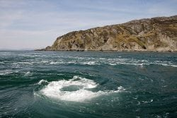 The Corryvreckan Whirlpool. PIc credit: Walter Baxter