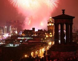 Edinburgh's famous Hogmanay street party. Pic credit: Robbie Shade, Creative Commons.