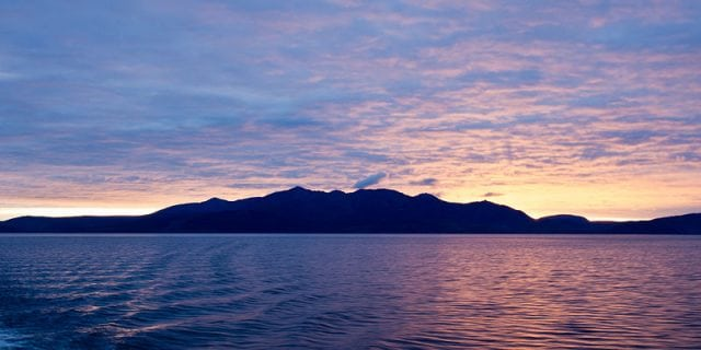 Arran at sunset. Pic credit: Colin