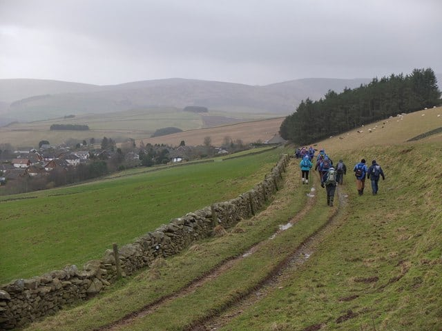 Walking near the town of Galashiels. Pic credit: Jim Barton