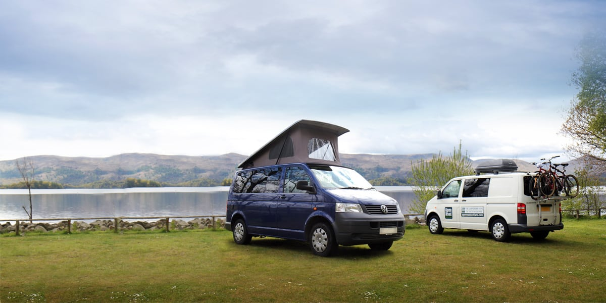 We provide Volkswagen Campervan hire throughout Scotland from our base at Glasgow Airport - we also serve Edinburgh and Prestwick Airports. With up to 4 berths, our VW Campervans are also amazingly well equipped.