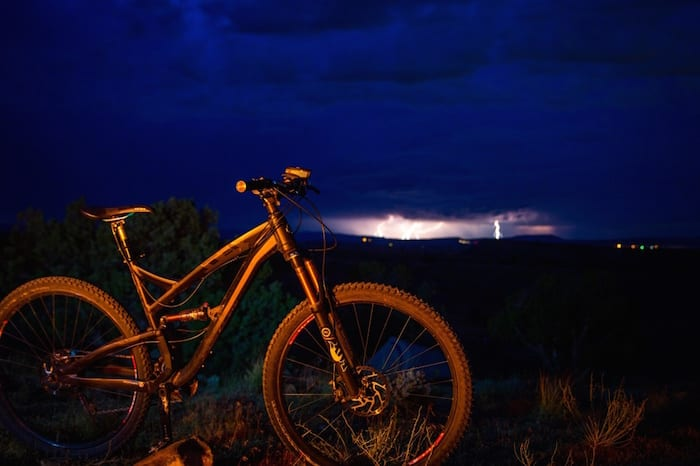 Go night mountain biking.