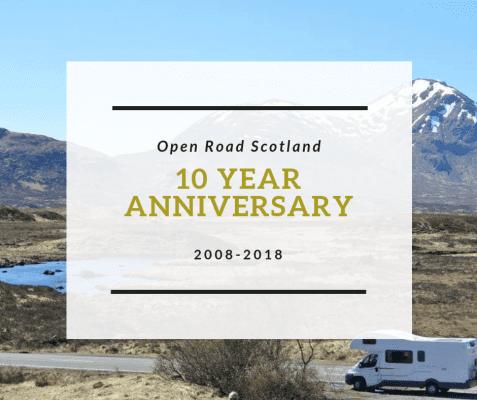 Open Road Scotland 10 year anniversary