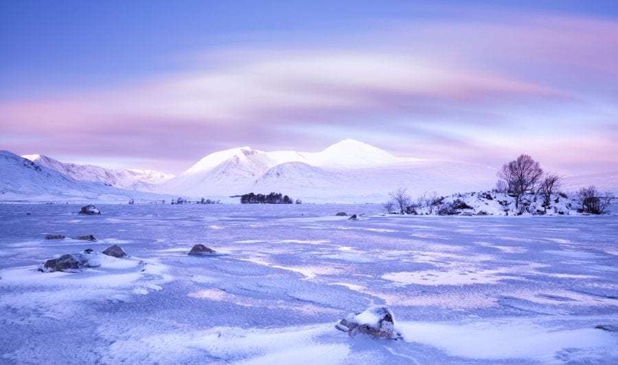 Lochan na h-Achlaise on Rannoch Moor, against the backdrop of the Black Mount Mountains. Credit: John McSporran.