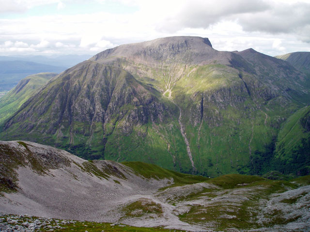 Ben Nevis from the south. Credit: Blisco.