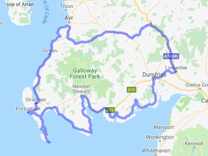 Great Scottish routes: South West Coastal 300 - Open Road Scotland